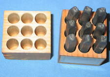 """Young Bros 3/16"""" Reversed Figure Number Set 0-9 Gruv-Grip - Free Shipping"""