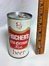 "Fischer's old style german beer old vintage metal can 12 oz. 4.75"" Florida BH8"