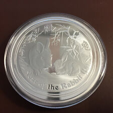 2 oz Hase Lunar II proof silver silber coin 2011 Year of the Rabbit +COA