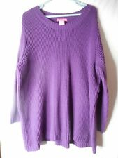 Woman Within Purple Sweater Size 2x Acrylic