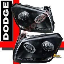 05 06 07 Dodge Magnum SXT SRT8 SE Dual CCFL Halo LED Black Projector Headlights