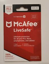McAfee LiveSafe 1 Year Subscription Includes Antivirus Security  KEY CODE