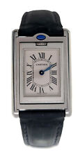 Pre-owned Cartier Tank Basculante 22x25mm W1011158 Leather Men's Watch