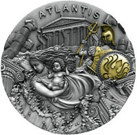 ATLANTIS Legendary Lands 2 oz Silver Coin  Niue