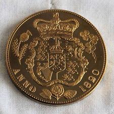 GEORGE IIII 1820 GOLDEN PROOF PATTERN CROWNED SHIELD UNOFFICIAL CROWN