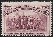"US # 231 *MINT OG NH { ""BROKEN HAT VARIETY } 2c LANDING OF COLUMBUS 1893 CV $160"