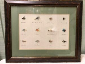 Flyfishing Flies Authentic Tied By Hand Matted and Framed