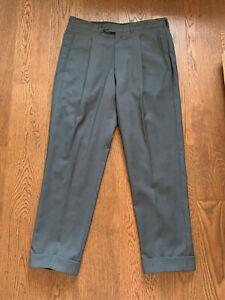 """CORNELIANI Trend Trousers Size 34"""" W 28"""" L Men's 100% Virgin Wool Vintage"""