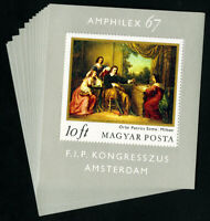 Hungary Stamps # 1819 XF Lot of 15 s/s OG NH Scott Value $75.00