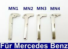 1x Ersatz Notschlüssel Schlüsselrohling Schlüsselbart für Mercedes Benz Chrom