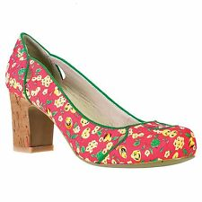 Women's Multi-Coloured Textile Heels