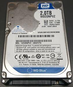 """2TB Western Digital 2.5"""" WD20NPVZ Blue SATA 15mm Hard drive #1"""