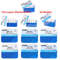 DFS Style Dental Diamond Burs Two Layers for High Speed Handpiece AZDENT