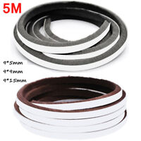 5M Self Adhesive Draught Excluder Brush Door and Window Seal Pile Weatherstrip