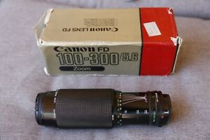Canon FD 100-300mm f/5.6 with original box