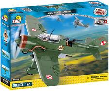 BRICKS COBI 5522 PZL P-23B KARAŚ PLANE SMALL ARMY ELEMENT 280 WW2