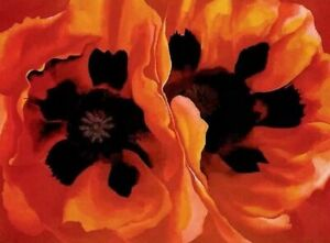 HandPainted Georgia Totto O'Keeffe Poppies Flower Oil Painting Art Reproduction