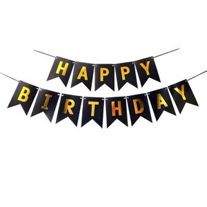 Happy Birthday Foil Balloons Banners Inflatable Reusable Supply Party Decoration