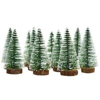 Mini Snowflake Christmas Tree Plastic Winter Ornaments Desktop Holiday PartyU4F1