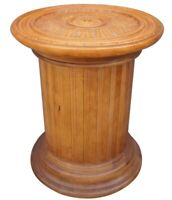 Bernhardt Furniture Co. Traditional Scalloped Pedestal Table Carved Column