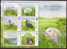 Alderney Flore et Faune de Alderney non Montés Excellent État , MNH