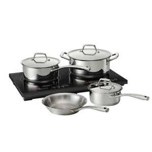 Tramontina, 8-Pc Double Hob Induction Cooking Cooktop System w Cookware + Lids