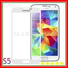 BIANCO Vetro Schermo GLASS WHITE x Samsung GALAXY S5 I9600 SM-G900F + ADESIVO 3M