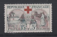 FRANCE  YT 156 N* ttb COTE 210€ (140 + 50%) CROIX ROUGE 1918 TRES BON CENTRAGE