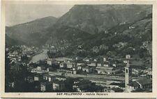 Primi '900 San Pellegrino veduta generale panorama monti case Bergamo FP B/N