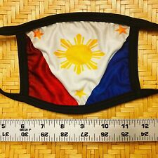Face Mask Adult Vintage look Filipino Pinoy Philippines Black 3 Stars Sun Flag