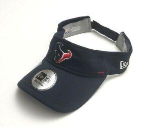 Houston Texans NFL New Era 2020 OF Training Strapback Visor Hat Navy OSFM