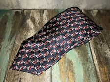 Hardy Amies Silk Tie - Made in Italy for Hardy Amies - Width 9cm - Red and Black