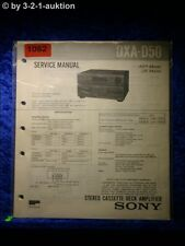 Sony Service Manual DXA D50 Cassette Deck Amplifier (#1082)