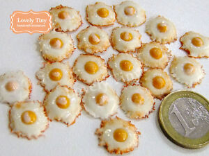 20 pcs.of Dollhouse miniature Fried Eggs: Asian Style Free Shipping!