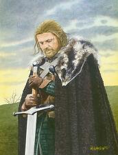 Game Of Thrones Sean Bean Ned Stark Art Print