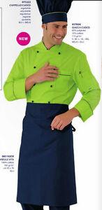 Chef Jacket ISACCO Apple + Blue Size From S A XL Jacket Kochjacke Куртка