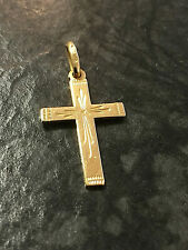 Goldanhänger Kreuz 585er Gelbgold Goldkreuz 2,8 cm 14 Karat GG