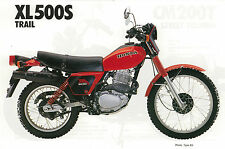 HONDA Poster XL500 S XL500S VMX 1980 1981 1982 Suitable to  Frame