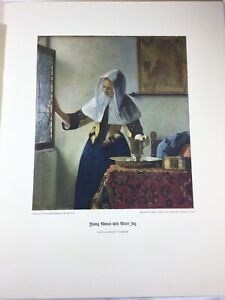 Monet & Vermeer print set in Full Color by Donnelley DeepTone Offset Advert 1950