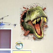 PVC 3D Dinosaur Jurassic Park Wall Sticker Kids Room Mural Art Decor Funny