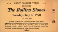THE ROLLING STONES 1978 SOME GIRLS U.S. TOUR RICH STADIUM UNUSED CONCERT TICKET