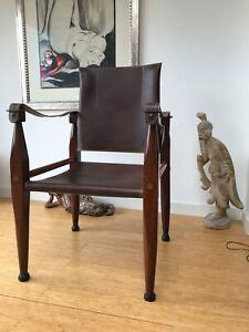 Wie neu - Leder Safari  Sessel Chair Stuhl