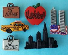 NEW YORK - America USA Taxi Cab Twin Towers 5th Avenue Dress It Up Craft Buttons