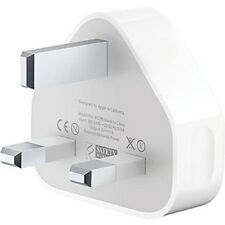 Apple ORIGINALE REGNO UNITO SPINA USB PARETE CARICABATTERIE alimentazione CA per iPhone 3GS 4 4S 5 5S 5C iPad
