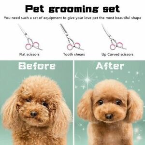 1 PCS Pets Cutting Straight Shears Dog Hair Scissors Grooming Tool Hairdressing