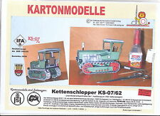 MDK-Verlag 8008 - Schlepper - IFA KS-07 / 62 - 1950 - Maßstab 1/25 - 14cm