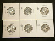 1965 Canada 25 Cents Silver Lot of 6 from Unc Roll #5041