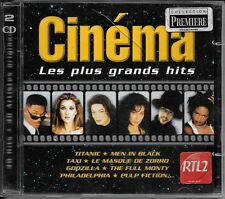 2 CD COMPIL 40 TITRES--CINEMA LES PLUS GRANDS HITS--TITANIC/TAXI/MEN IN BLACK...