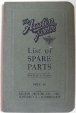 AUSTIN Twelve Illustrated Car Parts List #574 c1926