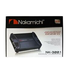 Nakamichi NK-300.1 1000W 1-Channel Monoblock Class AB Stereo Car Audio Amplifier